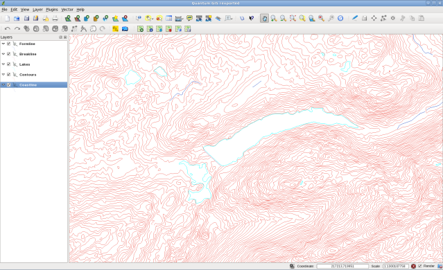 QGIS Showing Landform Panorama Data
